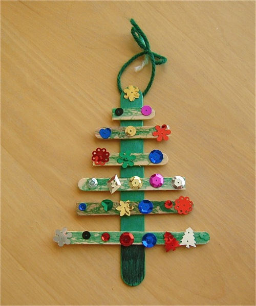 3d Christmas Tree Card For Toddlers
