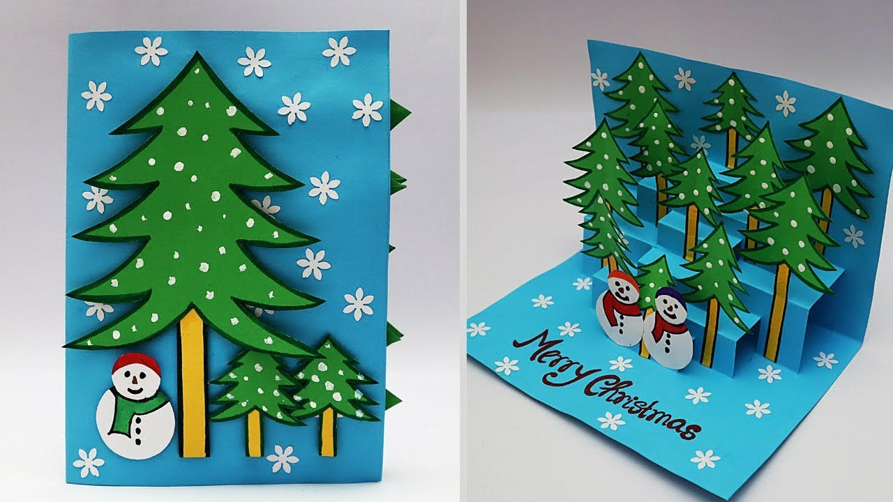 How To Make A 3D Christmas Card Step By Step