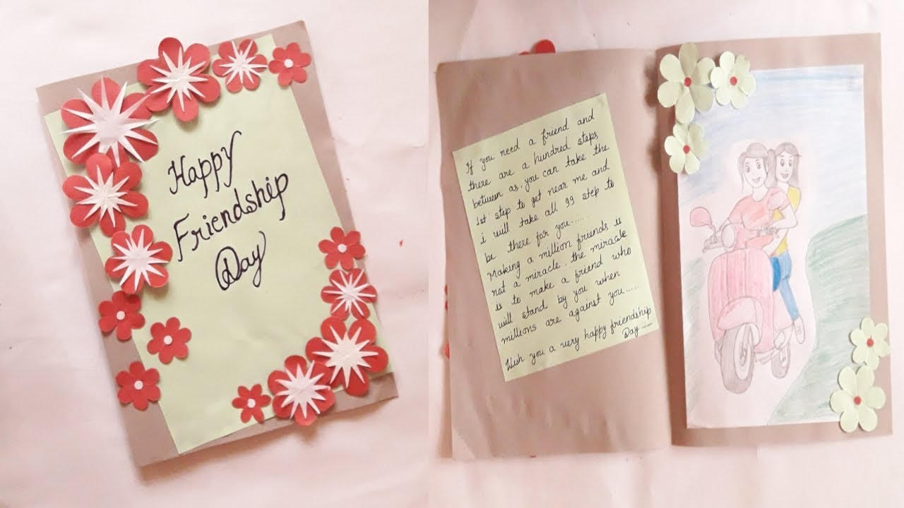 7 Greeting Card Making Ideas For Friendship Day Step By Step