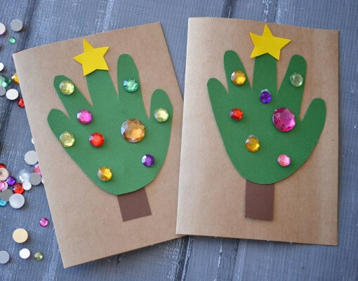 Easy Christmas Cards For Kids.9 Christmas Card Ideas For Toddlers Step By Step