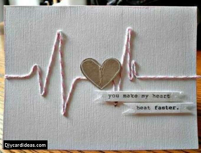 Heartbeat Handmade Greeting Card for Friend