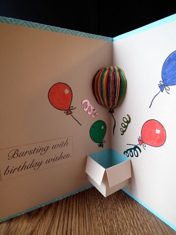 pop-up card for lovers birthday