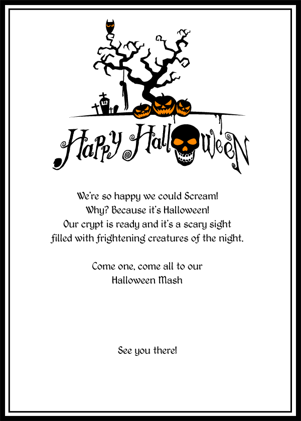 Free Halloween Invitations to Print 1
