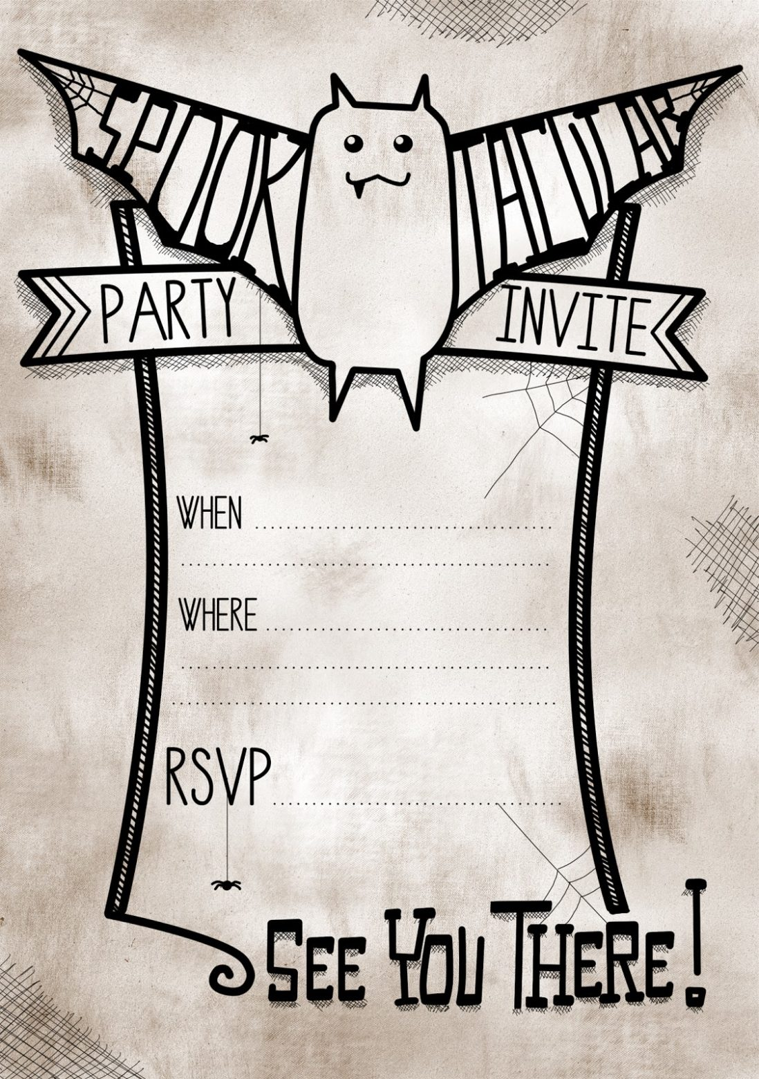 Free Halloween Invitations to Print 2