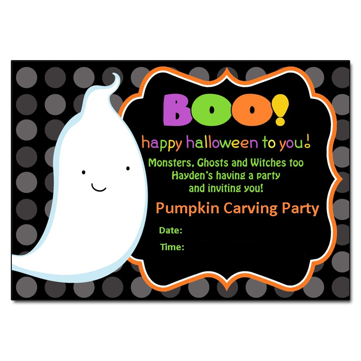 Funny Pumpkin Carving Party Invitation Card