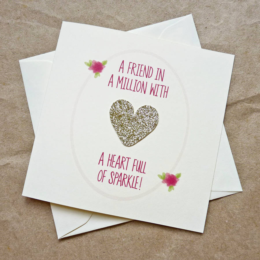 Heart Card for Friend
