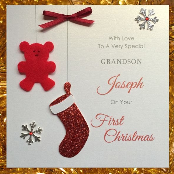 Personalized Baby's First Christmas Card