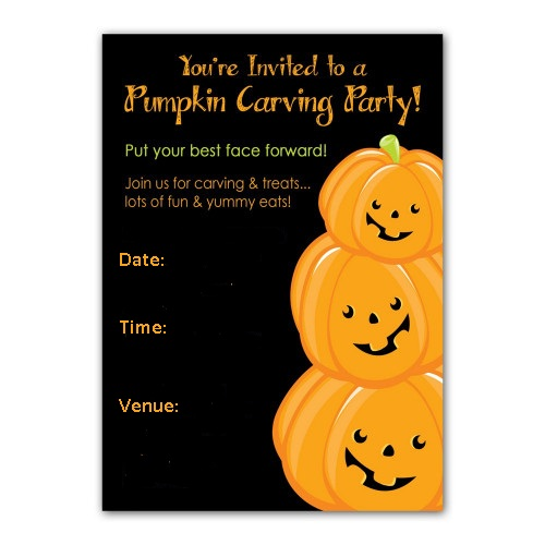 Pumpkin Carving Party Invitations 1