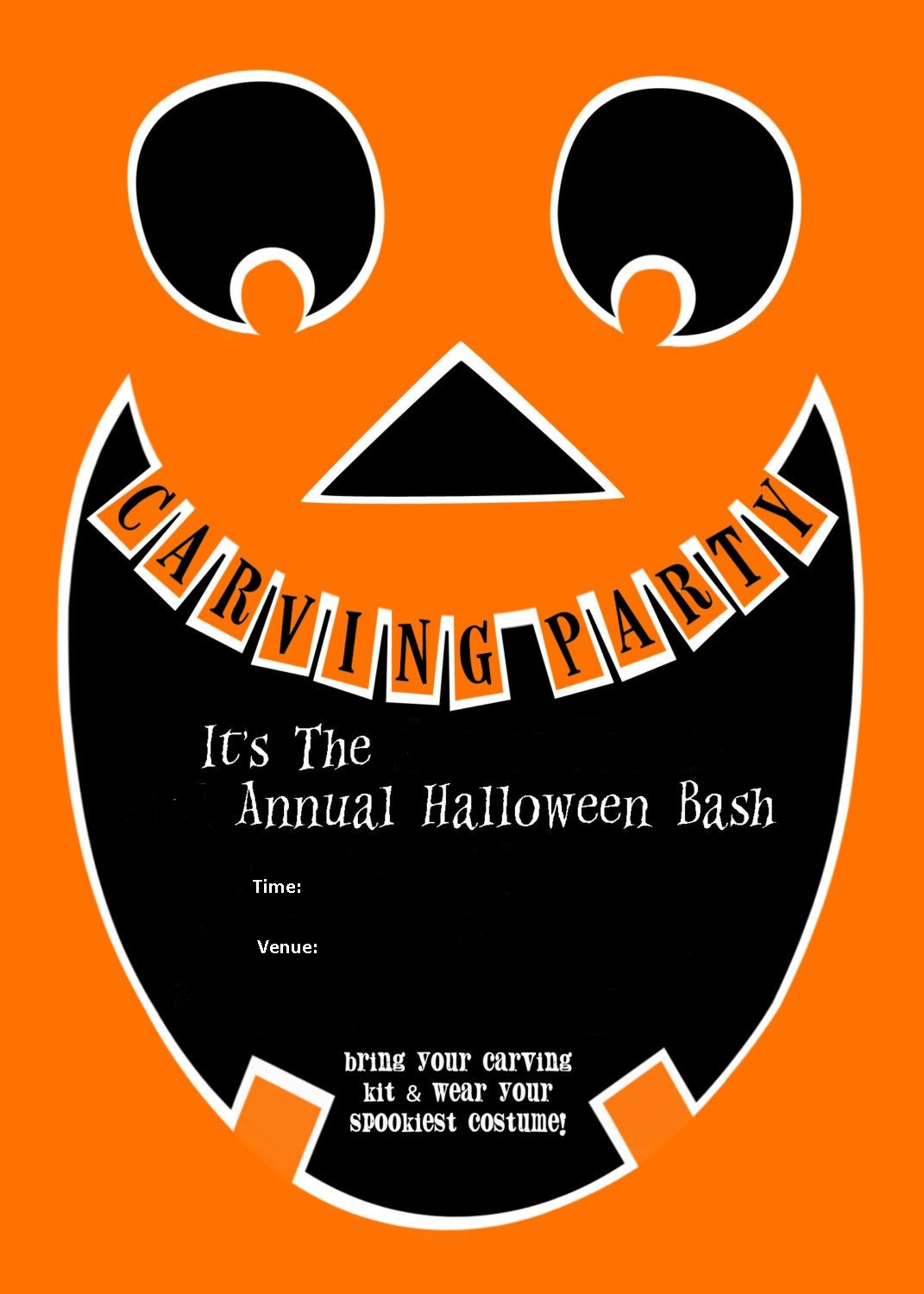 Pumpkin Carving Party Invitations 2