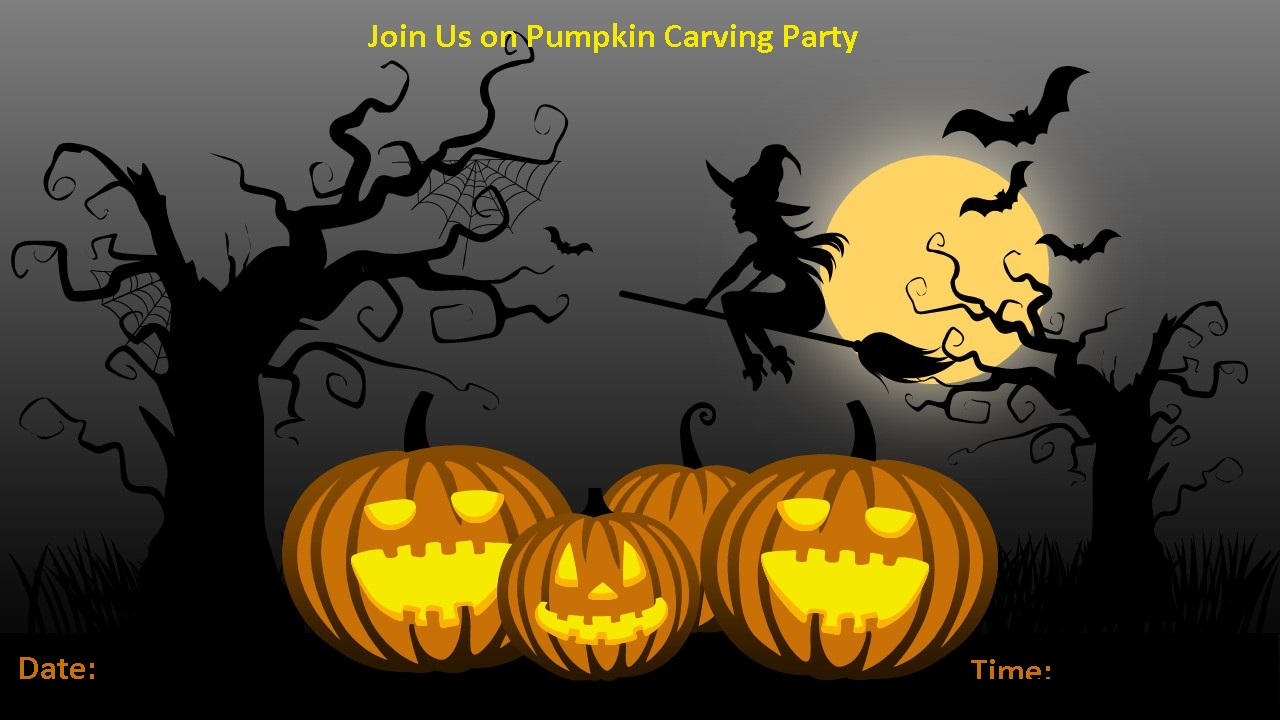 Scary Pumpkin Carving Invitation 1