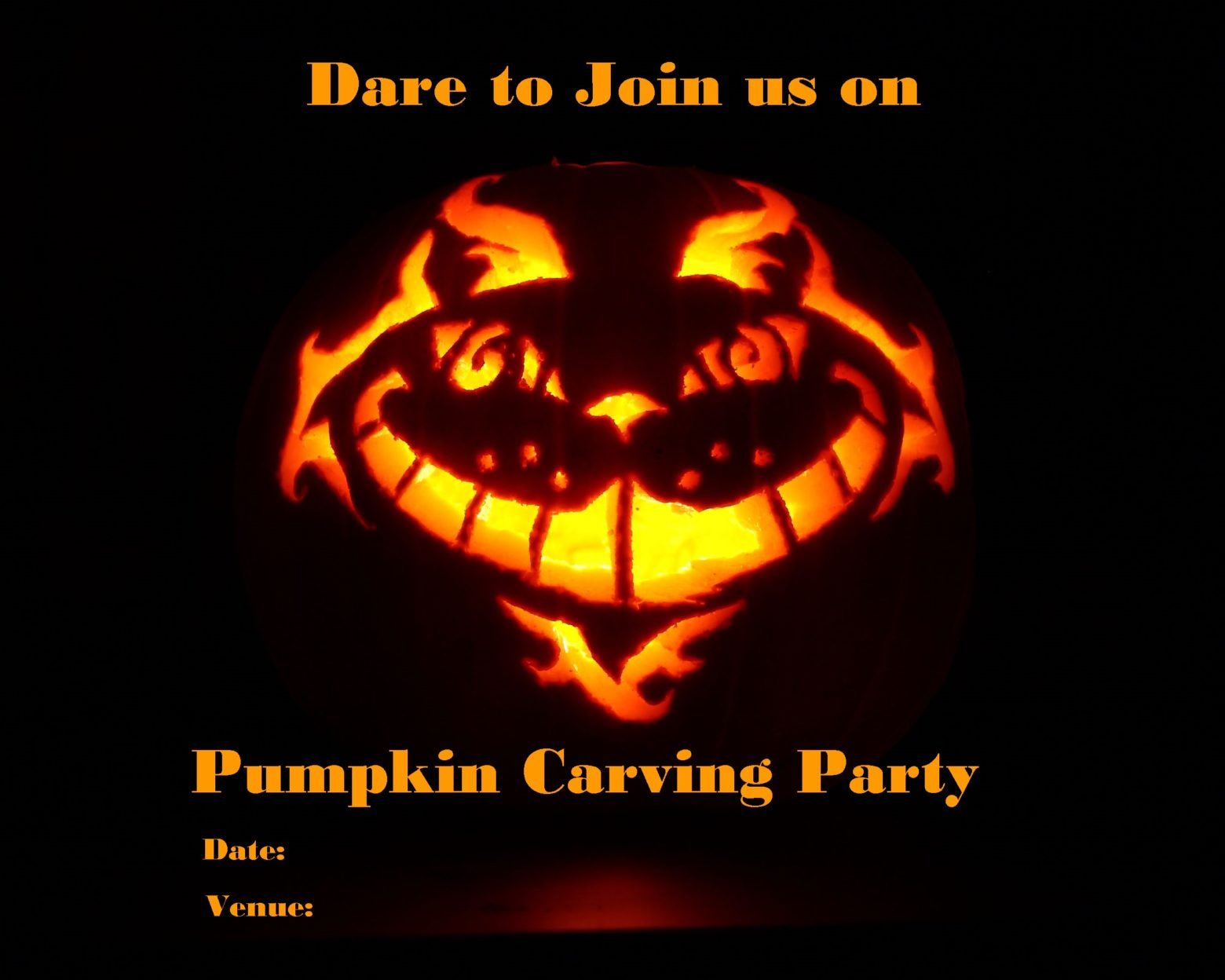 Scary Pumpkin Carving Invitation 3