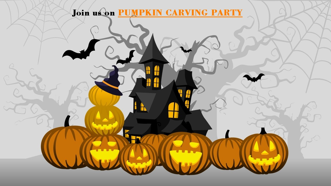 Scary Pumpkin Carving Invitation 4