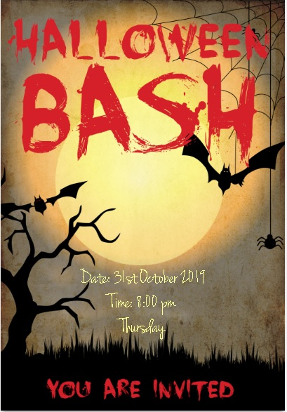 Simple Halloween Party Invitation Card