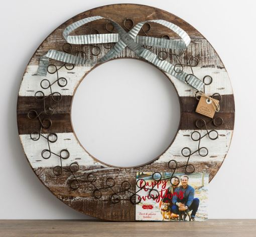 Christmas Card Wreath 1