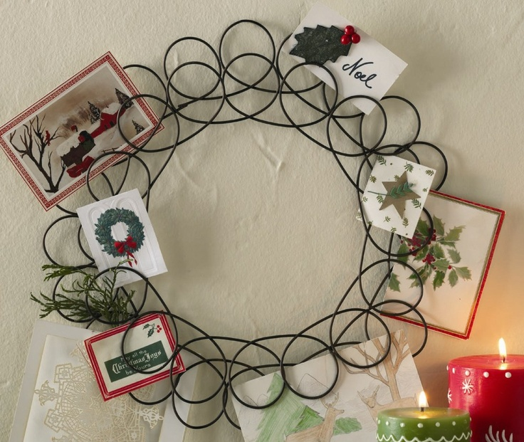 Christmas Card Wreath