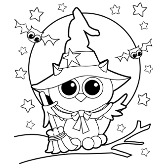 Halloween Coloring Pictures 1