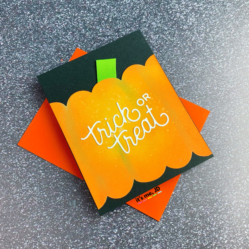 Handmade Trick or Treat Card