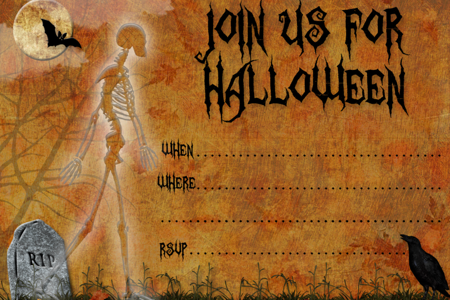 Printable Halloween Invitation Card