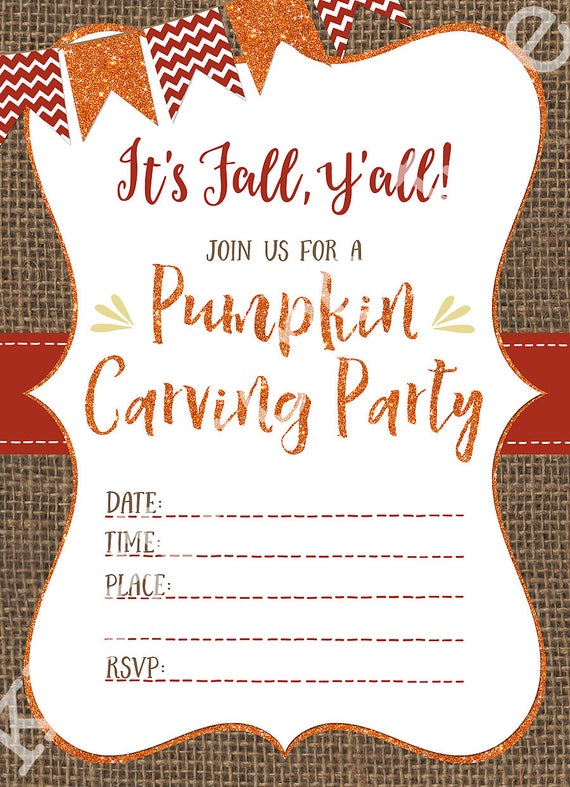 Pumpkin Carving Party Invites