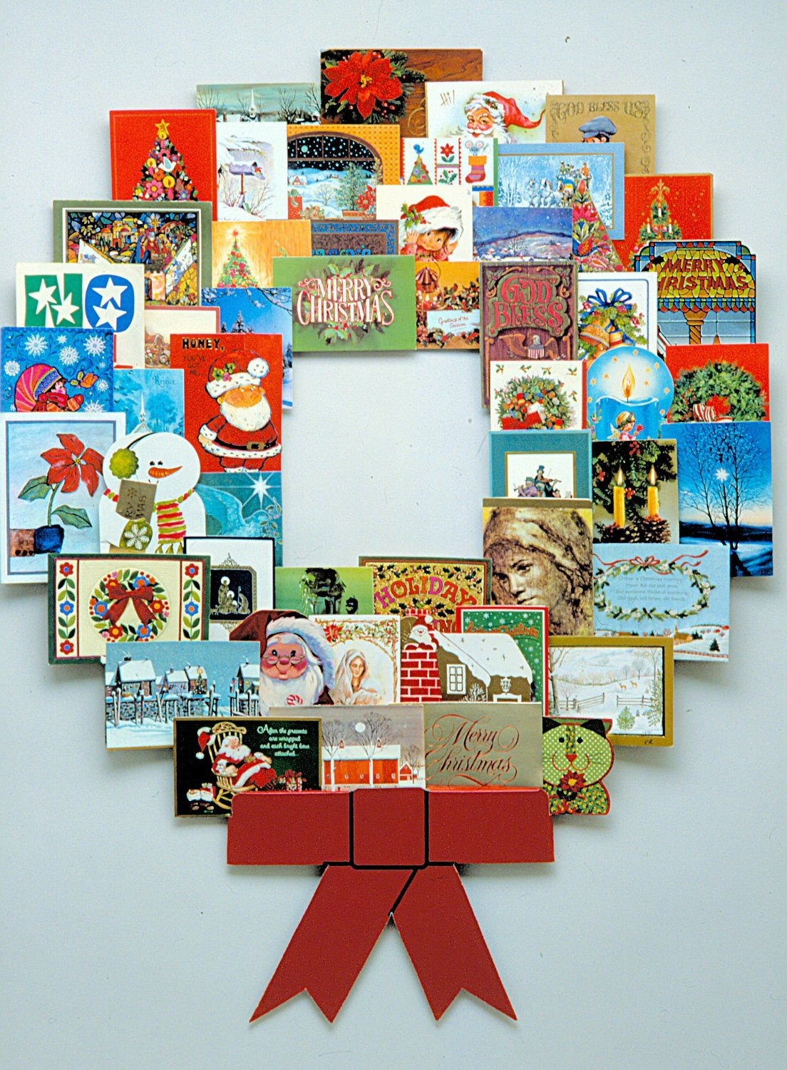 Wall Art Christmas Card Display 1