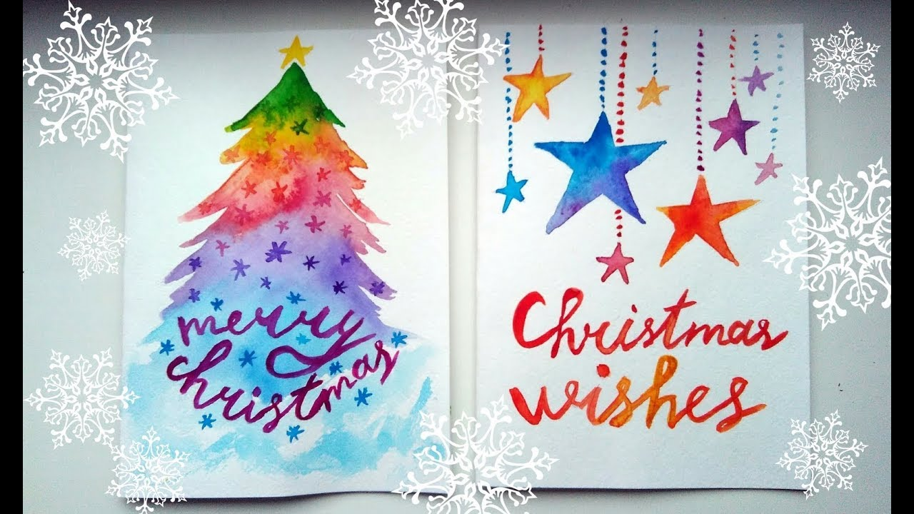 Water color Christmas card
