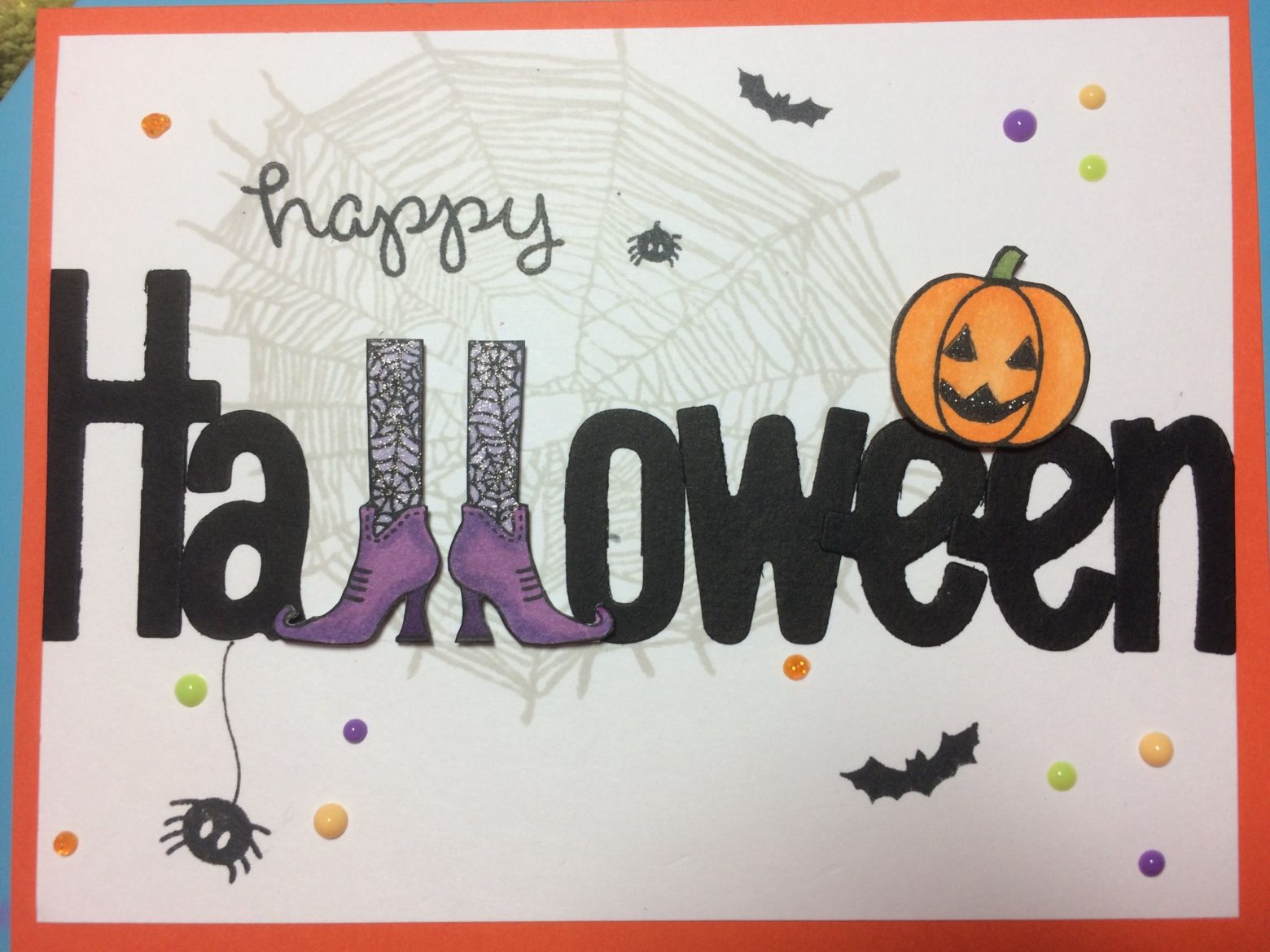 happy halloween card for girls