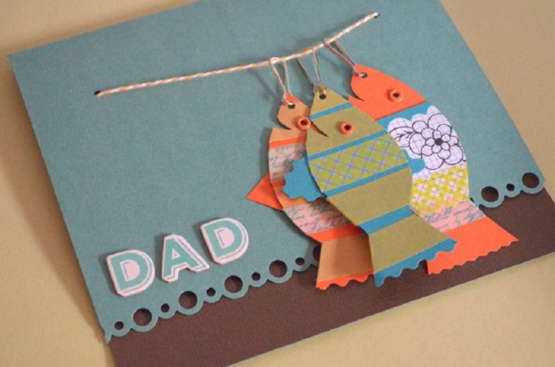 DIY fishy Fathers day card