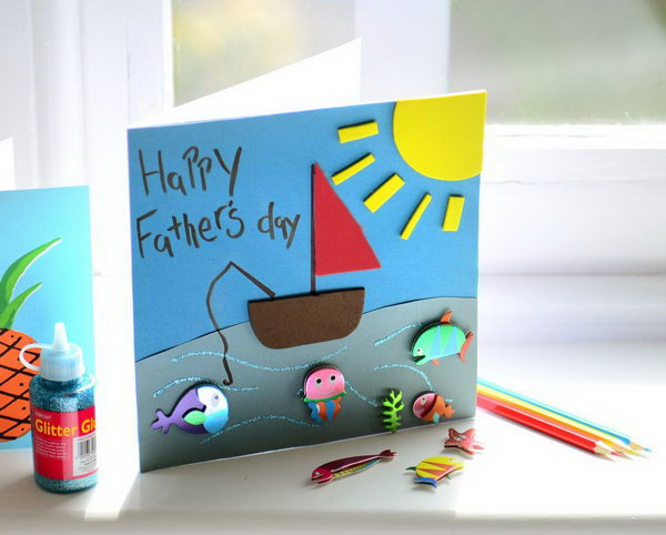 Fathers day card for toddlers