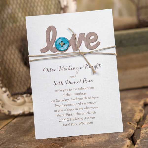 Loving DIY Rustic Wedding Invitation