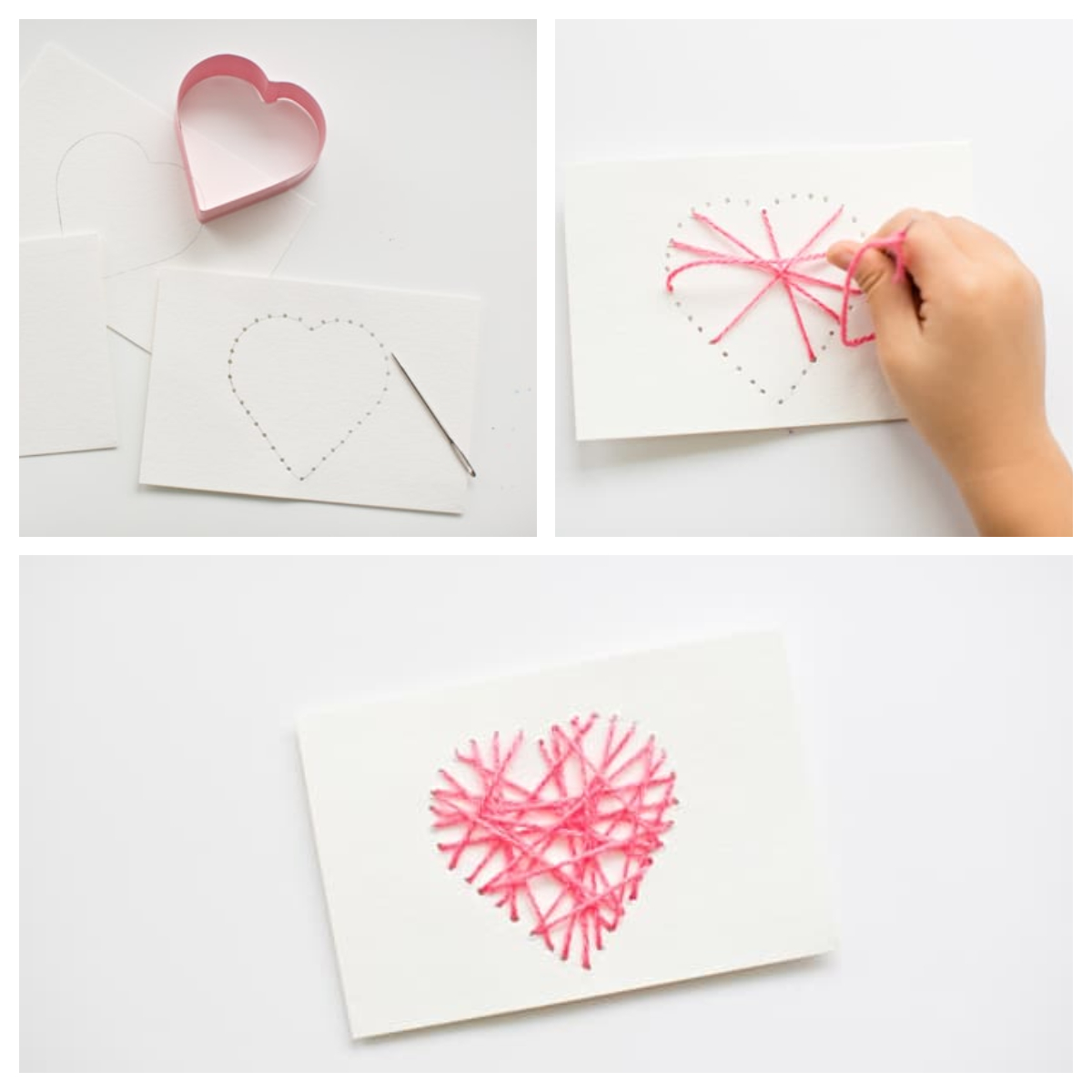 String Heart Card For Mother