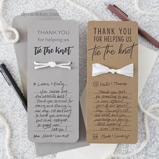 DIY Tie the Knot Card