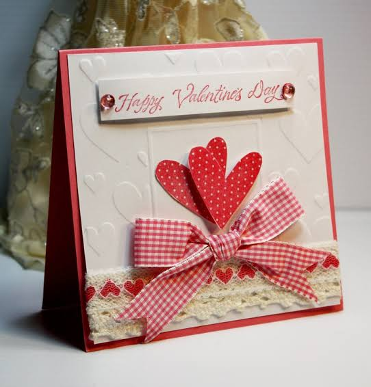 Handmade card design for Valentine day