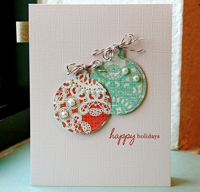 Handmade holiday cards idea