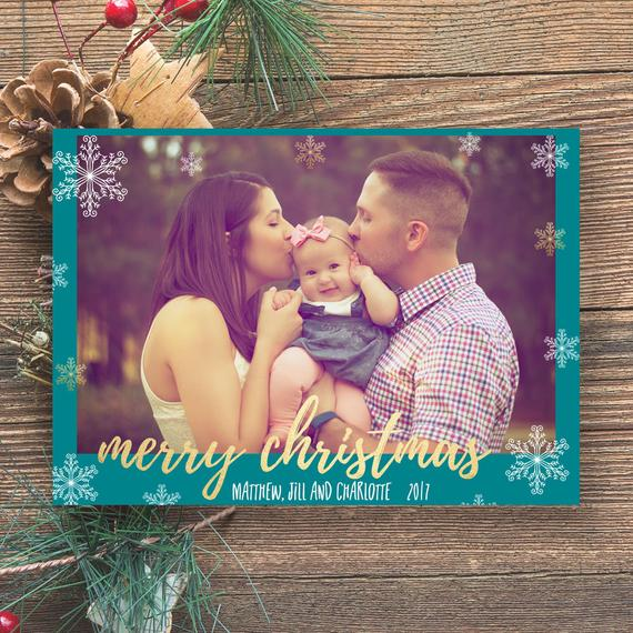 Love DIY Holiday photo card for parents