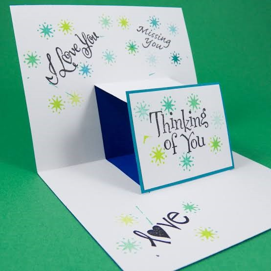 Pop up cards with i love you