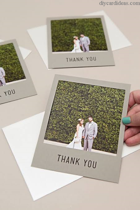 Simple Thank You Card Wedding