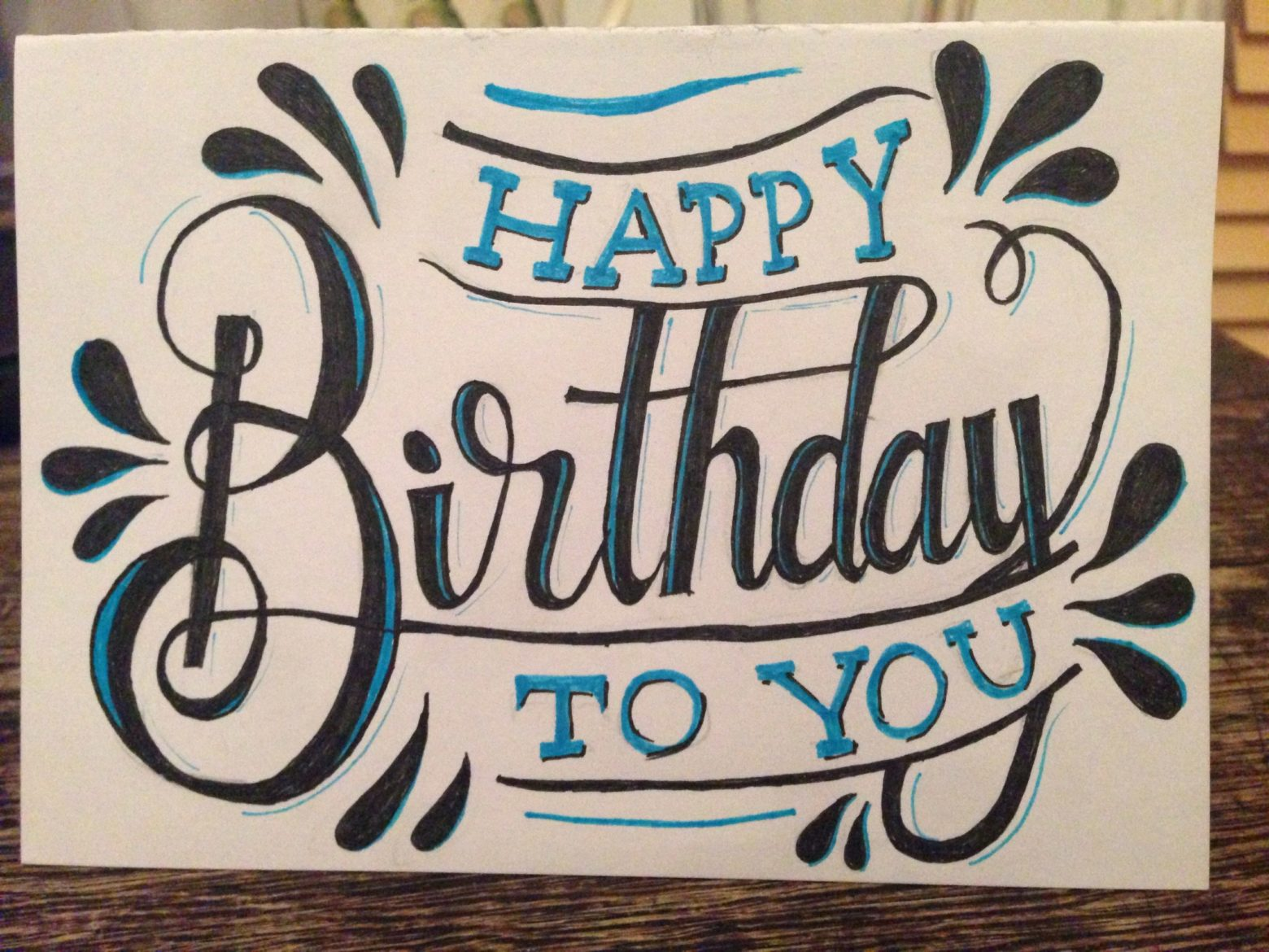 beautiful birthday card idea for brother