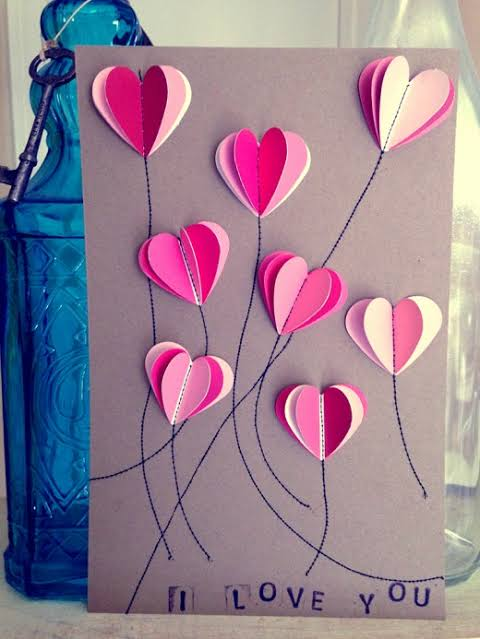 best Handmade card for Valentine
