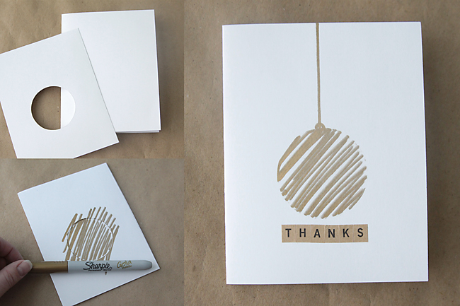easiest thank you card for wedding day