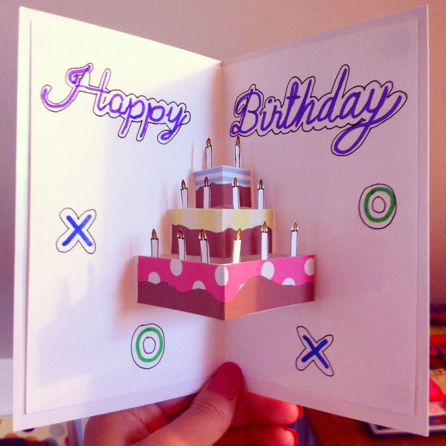 pop-up birthday card for sister