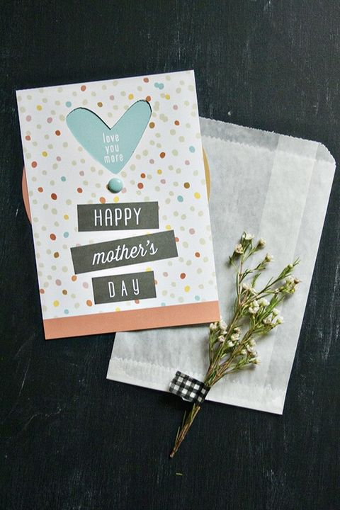 Simple greeting card for mother