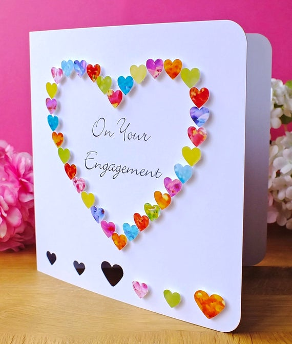 engagement card for him