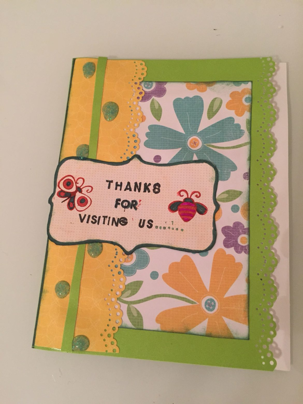 DIY Thank you for visiting us card