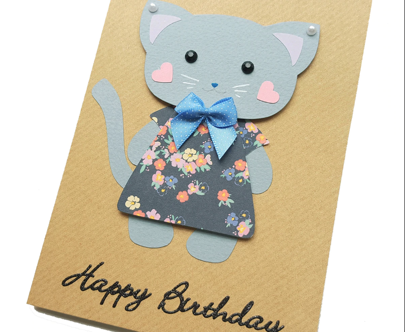 Happy Birthday Card For a Cute Cat