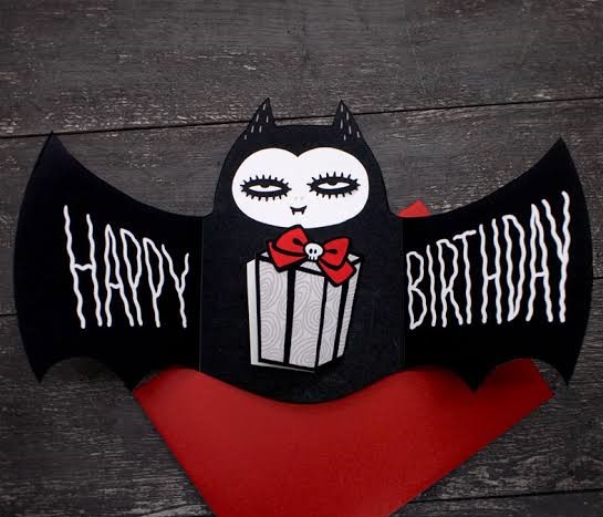 horror theme birthday card