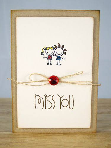 miss you card for couples
