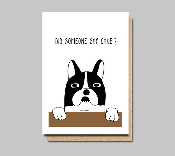 Funny birthday card for the dog