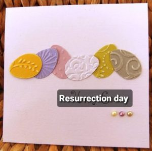 Simple card for resurrection day