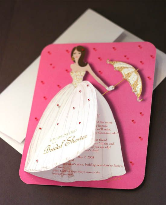 Handmade Bridal Shower Invitation Card