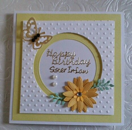 DIY Birthday card for Sister in Law